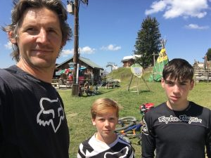 GK in the Alps with Sons
