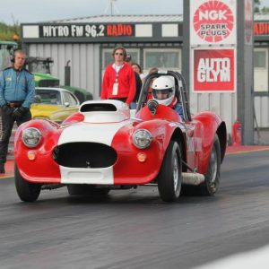 GK at Santa Pod with Cobra